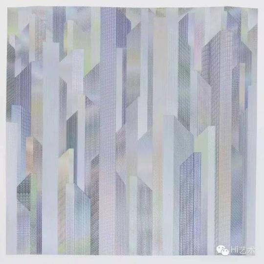 马秋莎 《你交换》180 x180 cm 纸上水彩及综合材料 2015