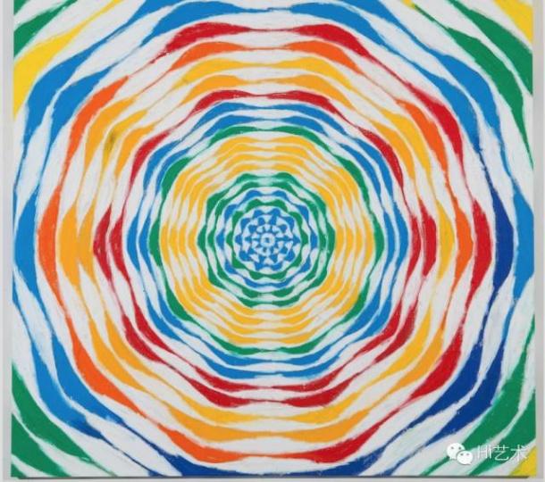HARMONY KORINE《Flink Circle》 162.6x177.8 cm 布面油画 2015