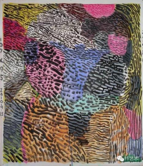 余友涵 《2010绘画》 布上丙烯 107x95cm 2010