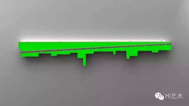 施勇《以美好的形式解决所有--00C》180x240x9cm 装置 本质多层板 硝基漆 铝合金 拉丝不锈钢 霓虹灯及元器件 铝条 丝网印 2015