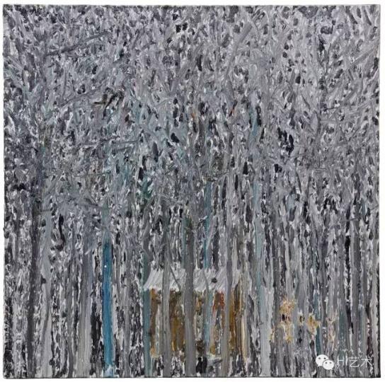 欧阳春《猎人》 100x100cm 布上油画 2014