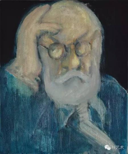 武晨 《怪老头M先生的肖像》60×50cm 布面丙烯 2015