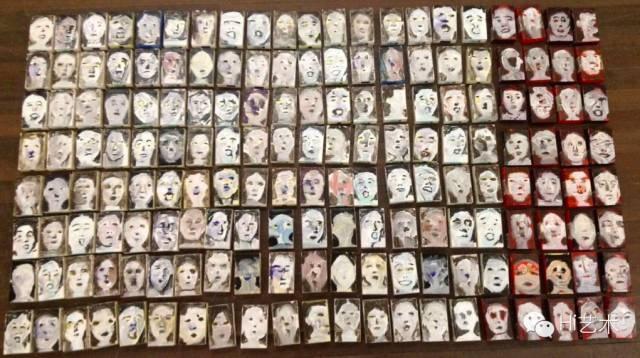 柴一茗 《人物之二》30x22.5cmx8 纸本丙烯 2002/2012