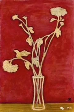 常玉《黃桌上的菊花瓶》59.5 x 39.8cm 油彩 纤维板 1940 估价:1000至1500万港元