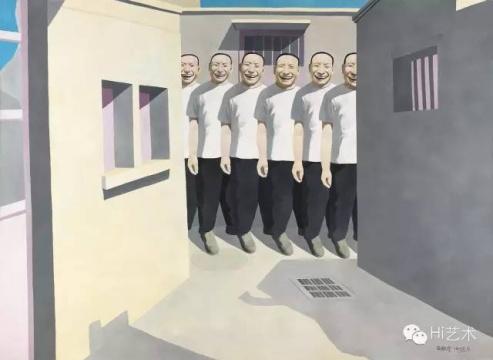 岳敏君《正午阳光》182 x 250cm 布面油彩 1993 估价:900至1200万港元