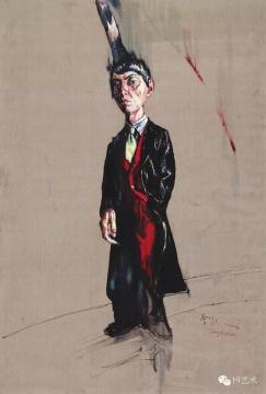 曾梵志《肖像》220 x 150.8cm 布面油彩 2006 估价:500至700万港元