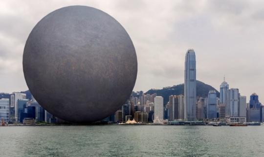 张增增 & 妙果数码《无形之形—港澳自由行》增强现实摄影 尺寸可变 2015
