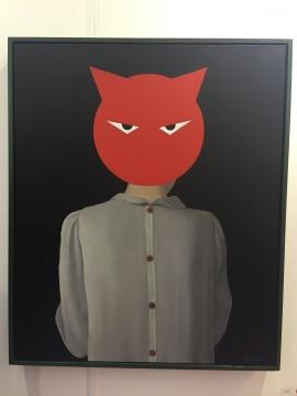 张占占 《愤怒的猫》 60×50cm 布面油画 2015