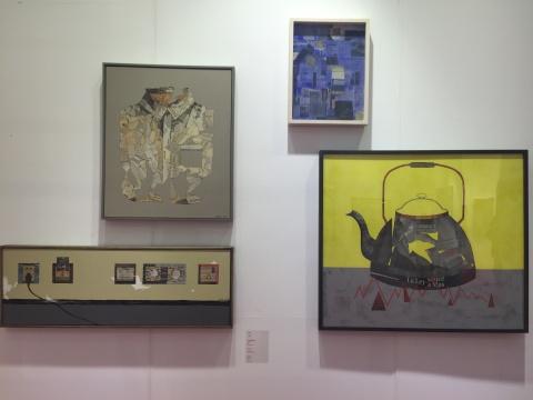 艺术家刘梦醒带来第一系列报纸拼贴作品