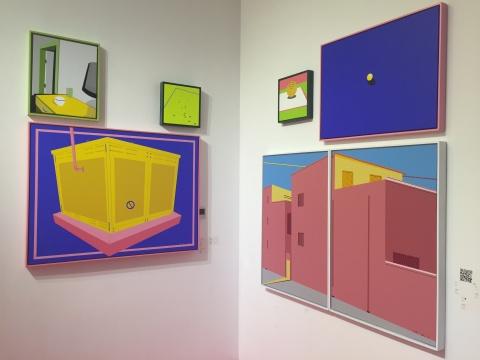 艺术家禹露的作品,画面中有明显几何形体,颜色明亮、干净