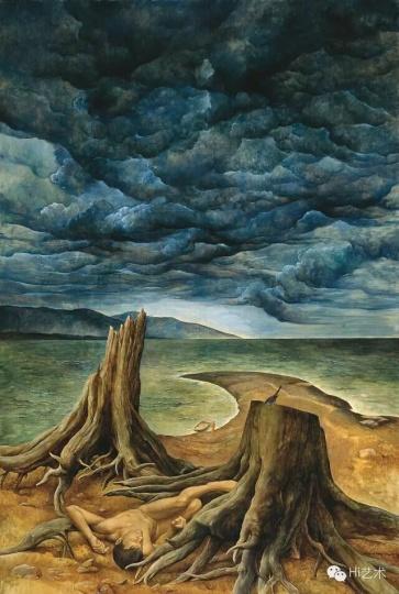 《异乡的云》 176×118cm 布面油画 2015