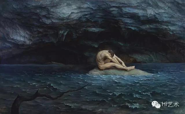 《孤洲》 118×176cm 布面油画 2015