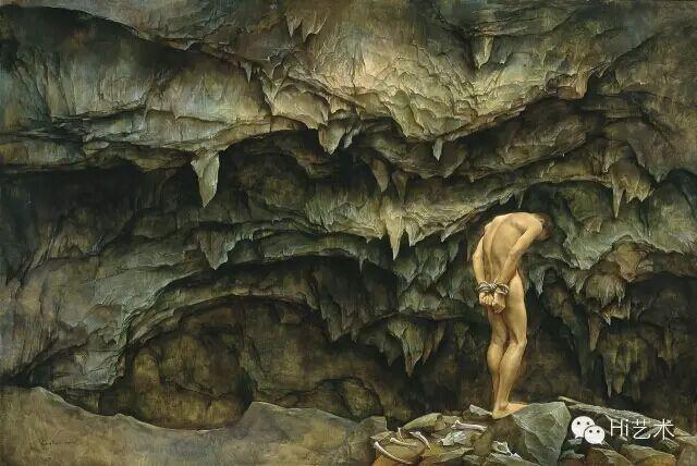 《缚》 118×176cm 布面油画 2015