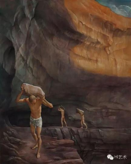 《行走的人》 127×101cm 布面油画 2014