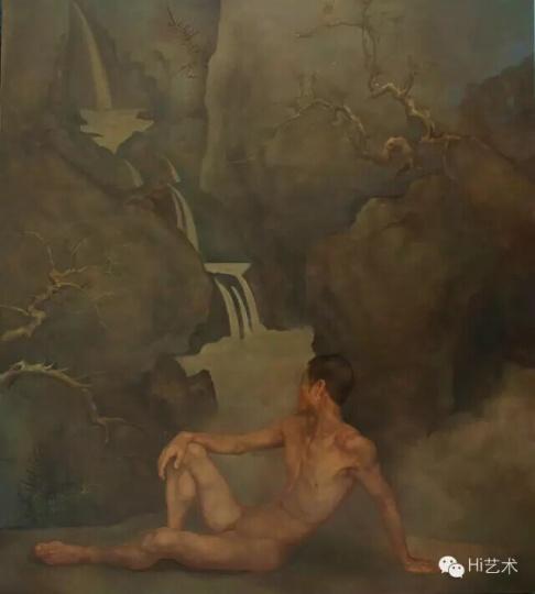 《观泉》 155x140cm 布面油画 2010