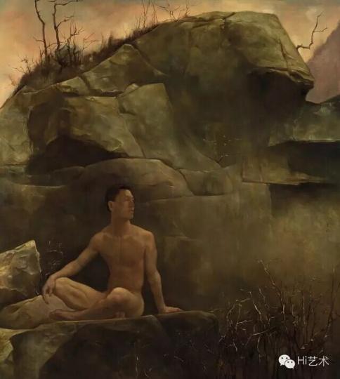 《岩栖谷隐图》 155×140cm 布面油画 2010