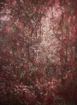 罗荃木 《风景》250×180cm布面油画 2015