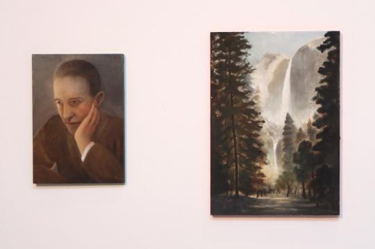 陈可新作《杜尚与瀑布之杜尚》一套两幅作品