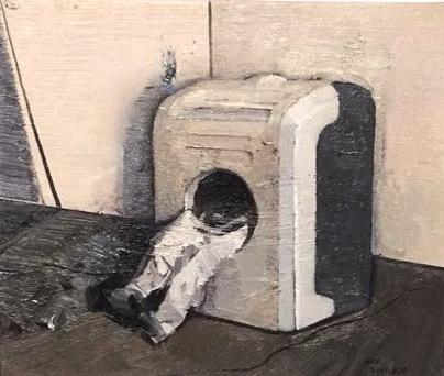 李昌龙 《日常政治之五十八》 25cm×30cm布面油画2015