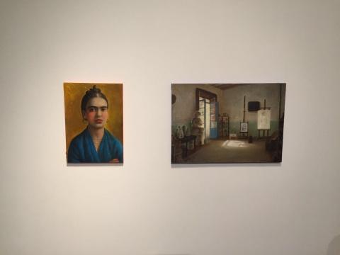陈可《弗里达与画室之弗里达》42×30cm,42×59.5cm 木板油画 2015