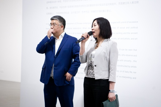 今格艺术中心执行董事汪频致开幕辞