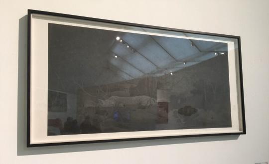 肖旭 《幽林竹色》 137×69cm 纸本水墨 2015