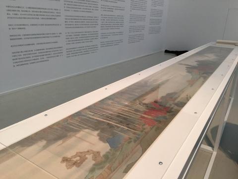 郝量  《万万石卷》 33×437cm 绢本重彩 2014