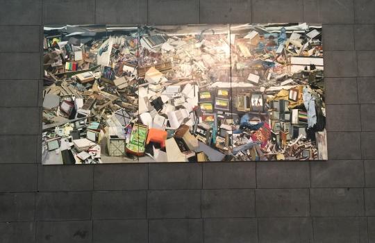 马文婷 《平行装置》 300×600cm 布面油画 2014-2015