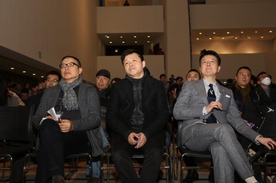 左起:罗中立、庞茂坤、仇浩然