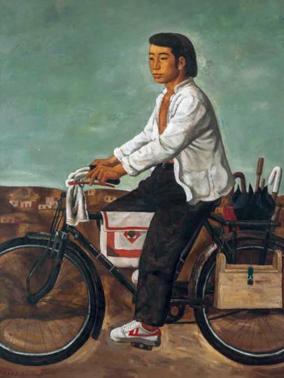 段建伟 《飞跃的运动鞋》160×114.5 cm 布面油画 1993 成交价:78.2万元 北京匡时春拍
