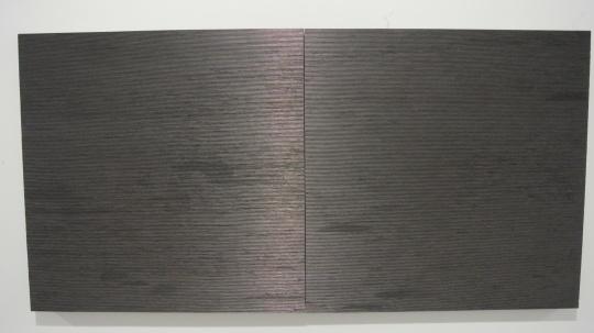 孟柏伸 《拼凑》 80×1600cm 木板上铅笔芯 2015 推荐人:张颂仁