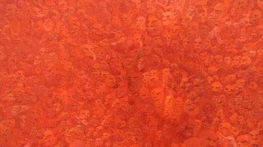 黄彦 《2013年8月15日-2013年12月25日》 100×100cm 布面油画 2013 推荐人:彭锋