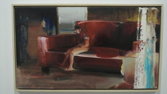 孟阳阳 《这不是一间房》 100×57cm 布面油画 2014 推荐人:钟飚