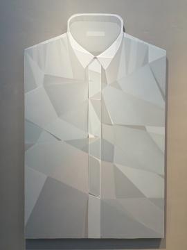 郭剑 《衬衣 (灰)》 210x130cm 布面油画2014