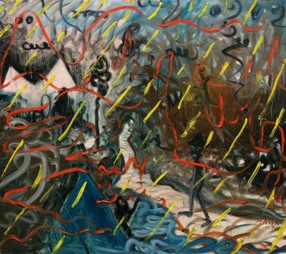 陶发 《圭山旅行》 120x136cm 布面油画2015
