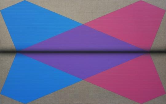 鞠方 《一页一页·双飞机》 73×118cm 布面油画2015
