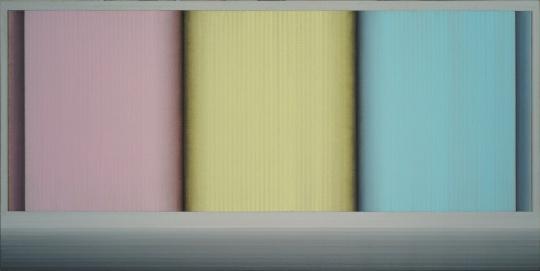 鞠方 《地平线·三色书》 60×120cm 布面油画2015