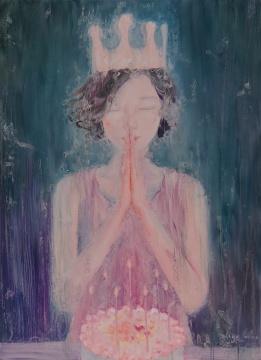 张子叶 《会发光·1》 210×150cm 布面油画2015