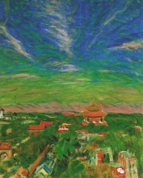 梅原龙三郎《北京秋天》 88.5x72.5cm 纸油彩 1942 东京国立近代美术馆藏