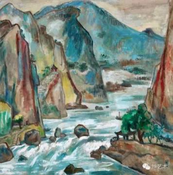 关良 《石门》135.5×134cm 油画 1980 在2011年嘉德春拍中以2300万元成交