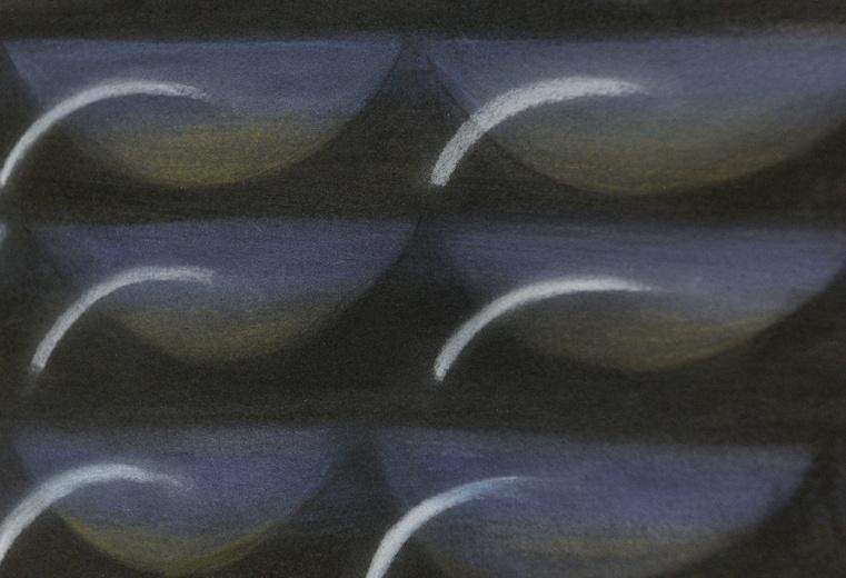黄娟的作品则呈现一种波浪形持续延展的序列