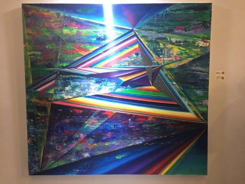 刘凌皓 《T.D.S.O.M》 160×150cm 布面油画 2015