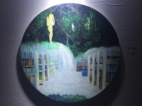 杨大治 《图书馆》 直径80cm 布面丙烯 2010