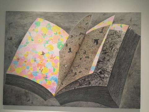 方力钧 《2009》 250×360cm 布面油画 2009