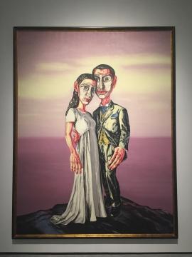 曾梵志 《A系列之3 ·婚礼》 225×290cm 布面油画 2001