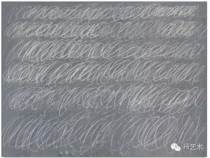 Cy Twombly 《UNTITLED (NEW YORK CITY)》 172.7× 228.6cm 黑板涂鸦 1968  成交价:$70,530,000