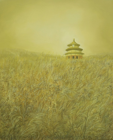 樊琳云 《孤独系列--天坛》80×100cm 布面油画 2013