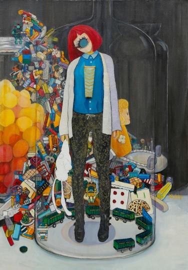 徐心怡 《我的我的我的》126×180cm 布面油画 2015