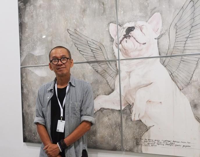 来自印度尼西亚的知名艺术家Agus Suwage,同时也是一位平面设计师