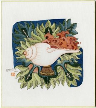 黄欢 《六尘 系列之3—香》 24×27cm 绢本重彩 2016